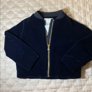 Other - Jacadi Paris Blue velvet jacket with gold zipper